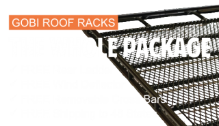 Get a Gobi roof rack for your custom off-road vehicle!