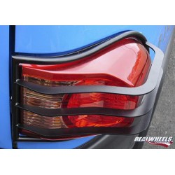 Real Wheels FJ Cruiser Black Tail Light Guards