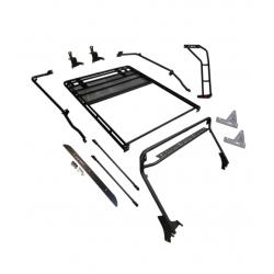 Gobi Roof Rack: JEEP WRANGLER JL 2DOOR STEALTH RACK · 40″ LED Setup