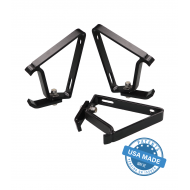 GOBI: JEEP WRANGLER FOXWING/BATWING  AWNING BRACKETS - Triple Support Kit