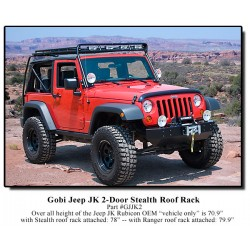 Gobi Jeep Wrangler JK 2 Door Stealth Roof Rack