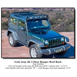 Gobi Jeep Wrangler JK 2 Door Ranger Roof Rack