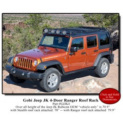 Gobi Jeep Wrangler JK Unlimited 4 Door Ranger Roof Rack