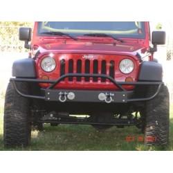 Rock Hard Jeep JK Front Bumper w/Ext - Fog Lights