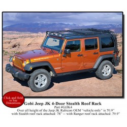Gobi Jeep Wrangler JK Unlimited 4 Door Stealth Roof Rack