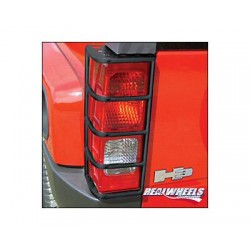 Real Wheels Hummer H3 Black Tail Light Guards